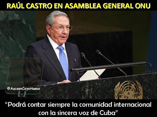 Raúl Castro en Asamblea General ONU