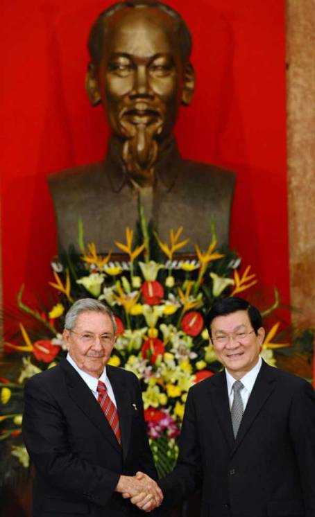 Raúl Castro en VietNam