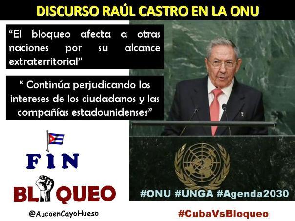 Raúl en la ONU tema Bloqueo 2