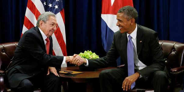 Raúl y Obama en la ONU 1