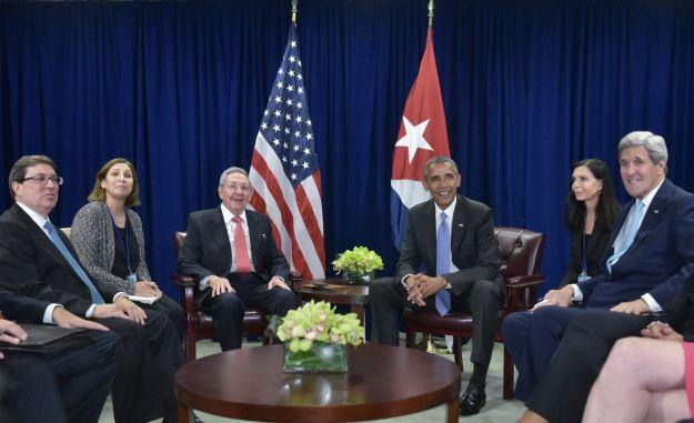 Raúl y Obama en la ONU 3