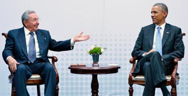 Raúl y Obama