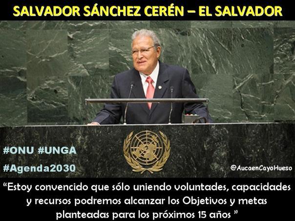 Sánchez Ceren en la ONU