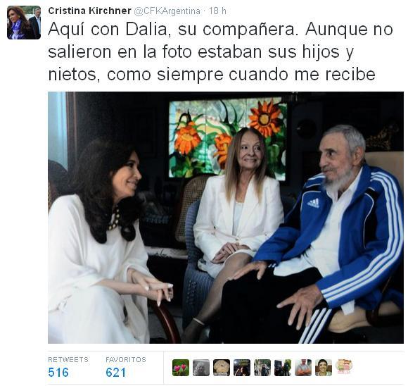 Tweet Cristina Fernández 1