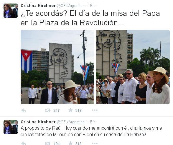 Tweet Cristina Fernández 2