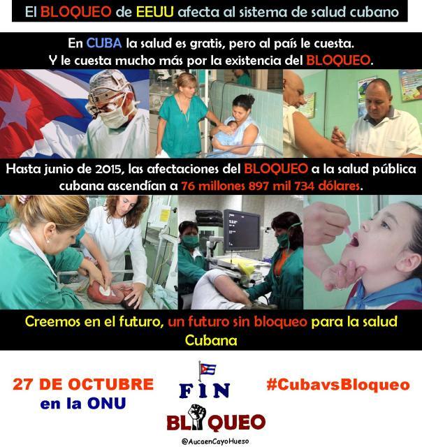 El bloqueo afecta al sistema de salud cubano