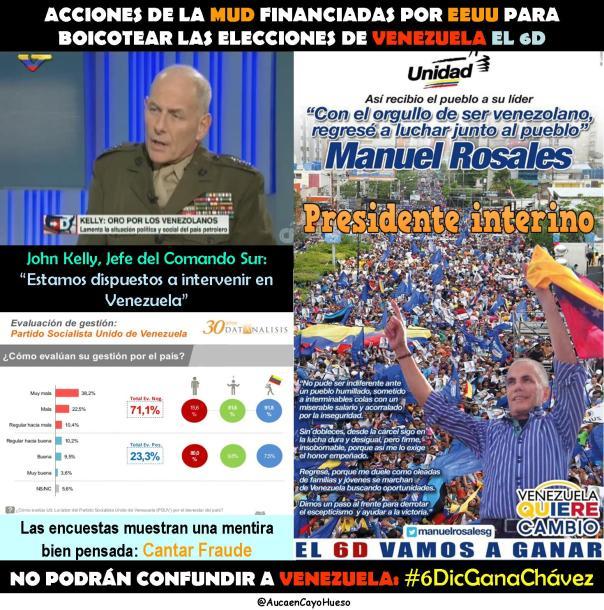 ACCIONES DE LA MUD PARA BOICOTEAR ELECCIONES 6D