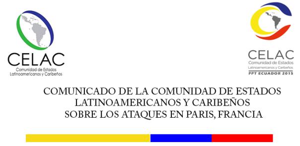 Comunicado CELAC sobre los ataques en París, Francia