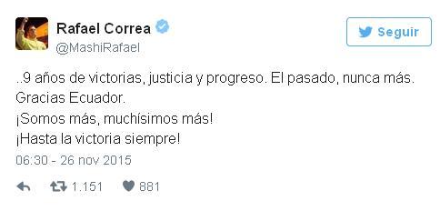 Tweet Correa