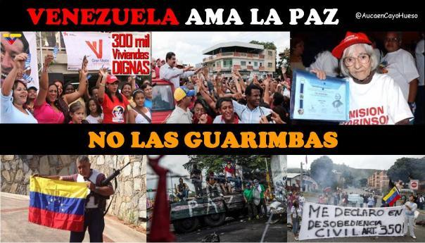 Venezuela ama la paz, no las guarimbas