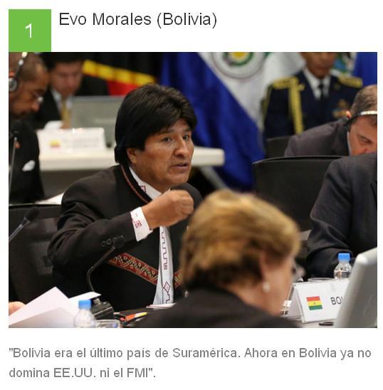 1 Evo Morales - Bolivia