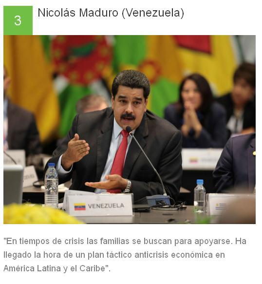 3 Nicolás Maduro - Venezuela