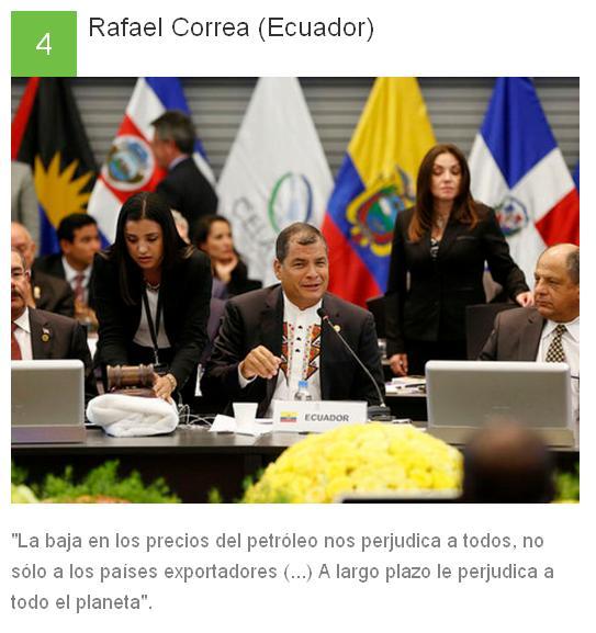 4 Rafael Correa - Ecuador