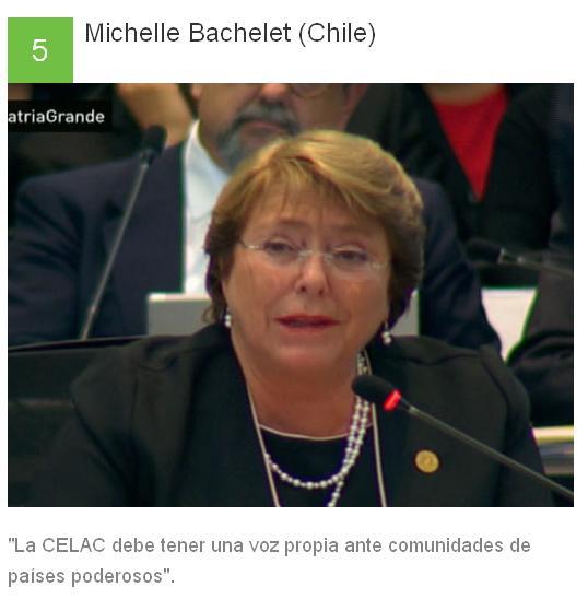 5 Michelle Bachelet - Chile