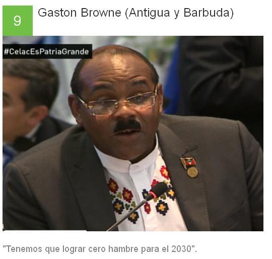 9 Gaston Browne - Antigua y Barbuda