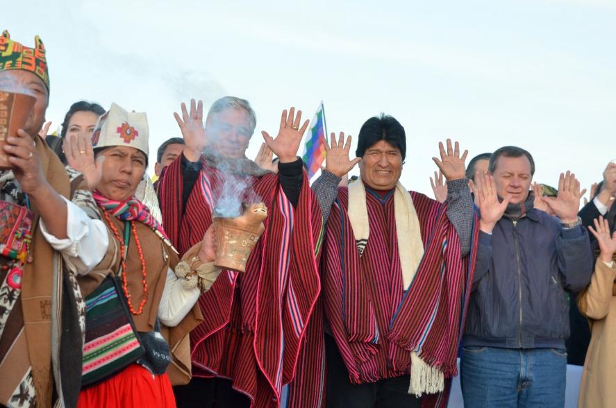 Evo Morales 10 años 2