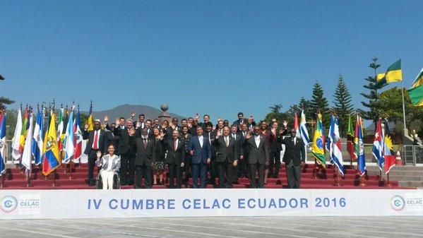 Foto Oficial de la IV Cumbre Celac Ecuador 2016