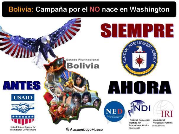 Bolivia Campaña por el NO nace en Washington