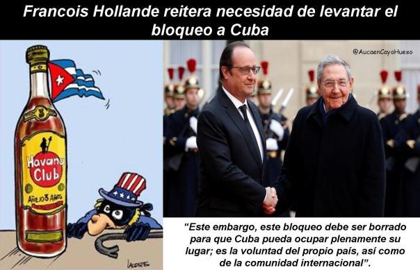 Francois Hollande y el bloqueo a Cuba 1