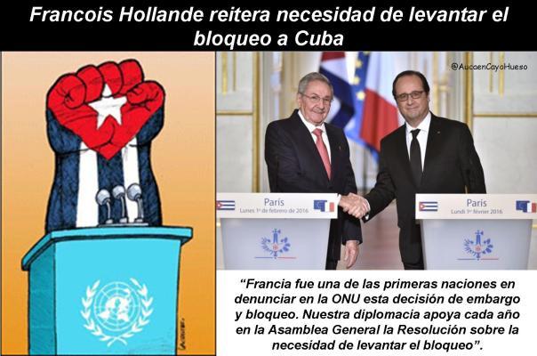 Francois Hollande y el bloqueo a Cuba 2
