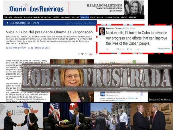 Iliana Ross la loba frustrada por viaje de Obama a Cuba