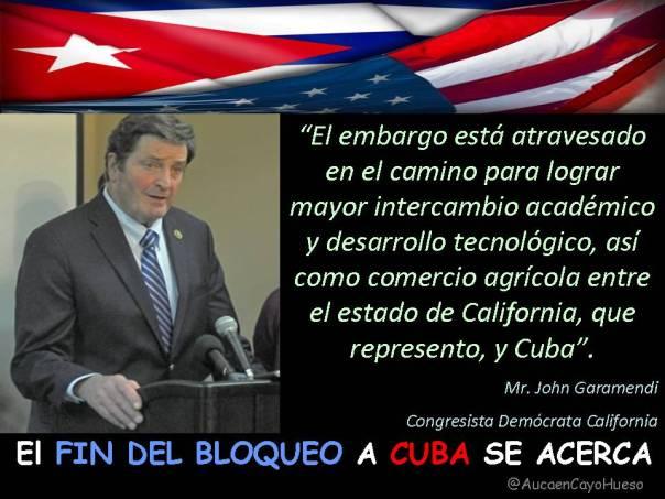John Garamendi Congresista California y el bloqueo a Cuba