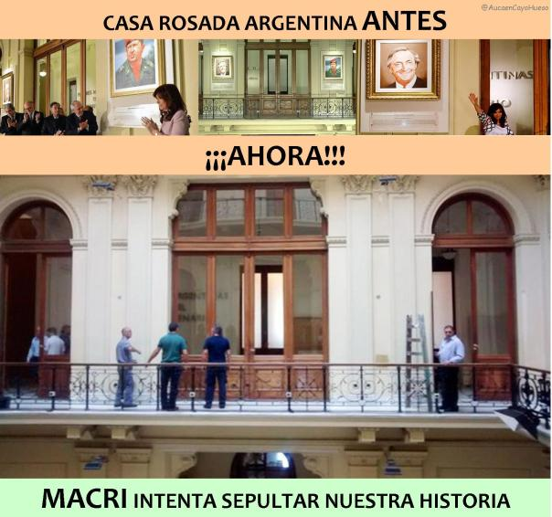 Macri intenta sepultar nuestra historia