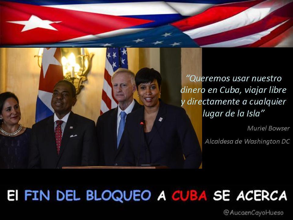 Muriel Bowser en La Habana, el fin del bloqueo a Cuba se acerca
