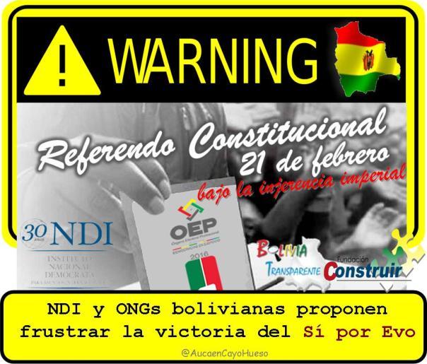 Referendo Constitucional en Bolivia bajo la injerencia imperial