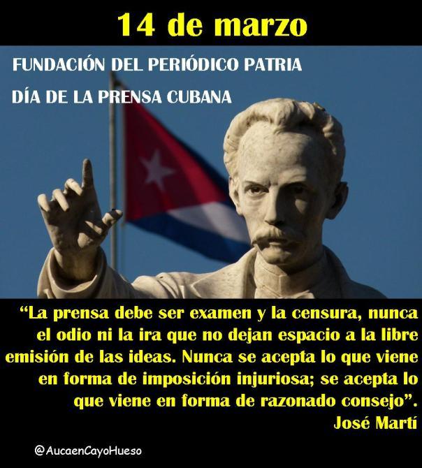 14 de marzo Día de la prensa cubana