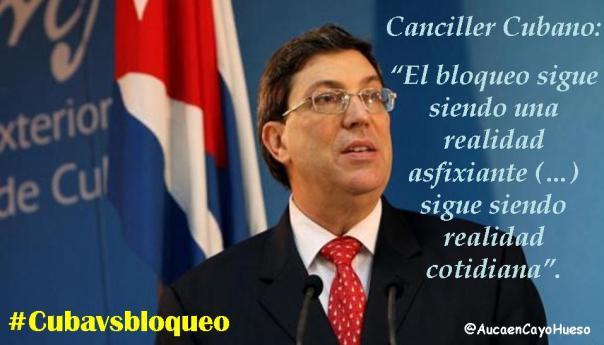 Canciller cubano, el bloqueo sigue siendo una realidad asfixiante