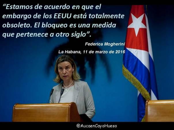 Federica Mogherini y el bloqueo a Cuba
