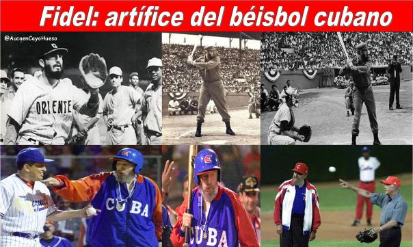 Fidel artifice del beisbol en Cuba