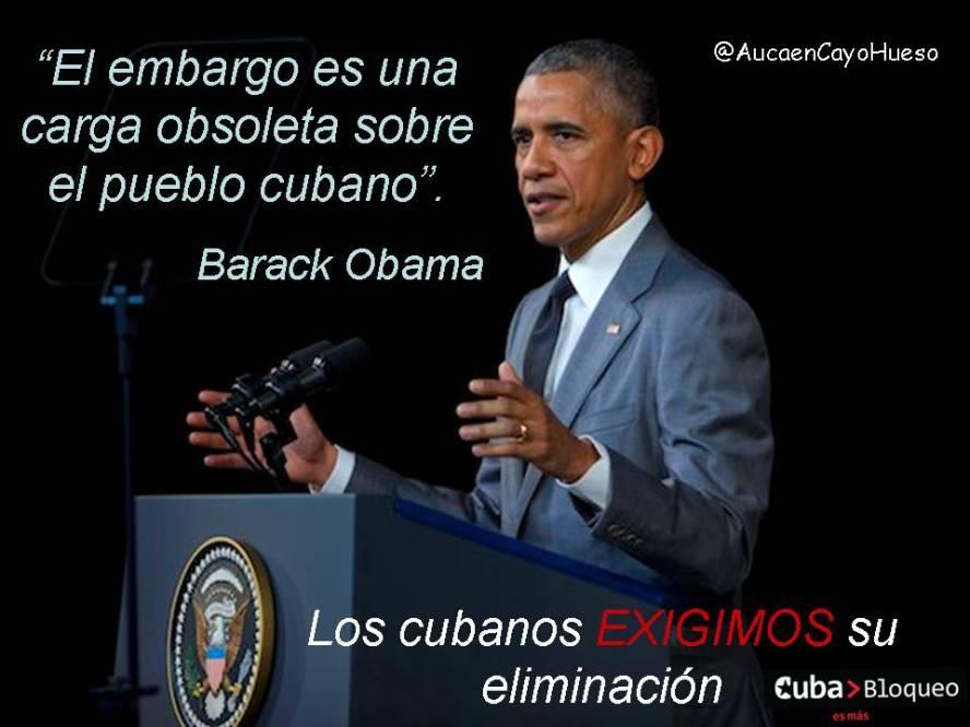 Los cubanos exigimos eliminacion del bloqueo