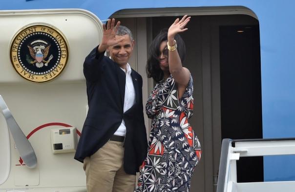 Obama y Michelle se despiden de Cuba