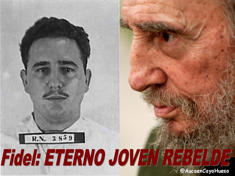 Fidel, eterno joven rebelde