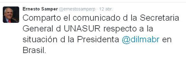 Tweet Ernesto Samper