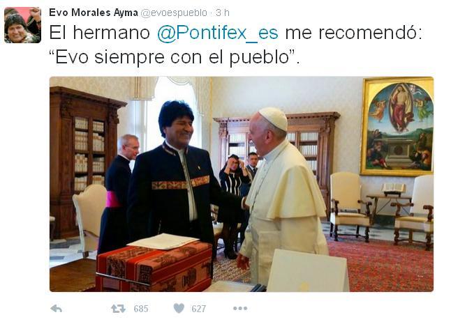 Tweet Evo Morales