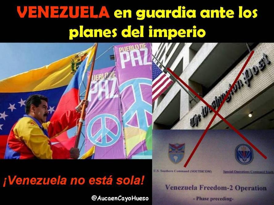 Venezuela en guardia ante los planes del imperio