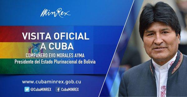 Visita Evo Morales en Cuba