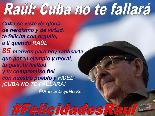 Felicidades Raúl