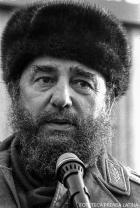El Presidente Fidel Castro en visita a la URSS, para participar en el XXVI Congreso del PCUS. Odesa.