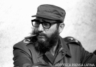 El Primer Ministro Fidel Castro Ruz durante las maniobras militares por el XX aniversario del desembarco del Granma. Camagüey, Cuba
