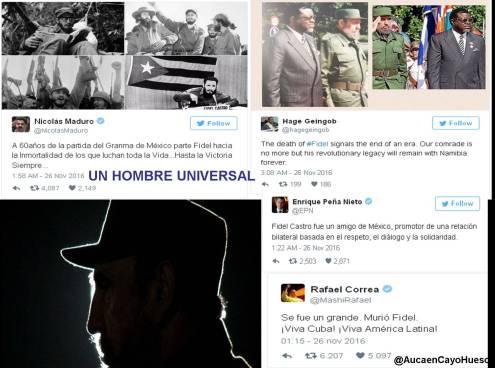 Líderes mundiales lamentan fallecimiento de #Fidel Castro