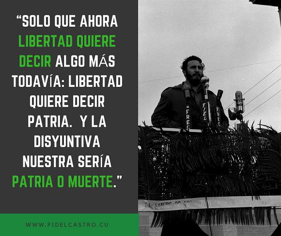 Frases Legendarias De Fidel Castro Fotos Auca En Cayo
